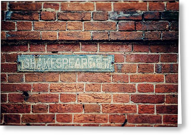 Shakespeare Street Greeting Card by Lisa Russo