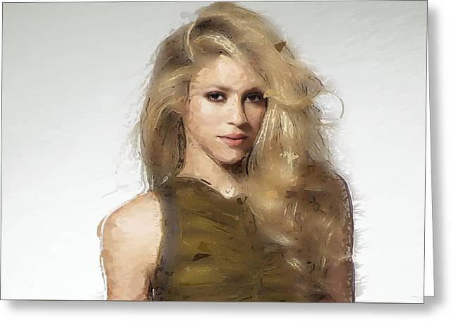 Shakira Greeting Card by Iguanna Espinosa