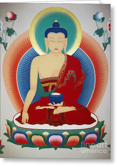 Shakyamuni Buddha  Greeting Card by Sergey Noskov