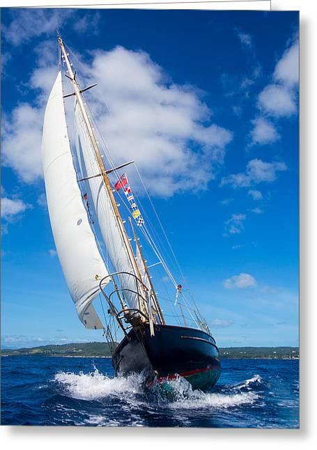 Shalamar Classic Sailboat #2 Greeting Card by Karl Alexander