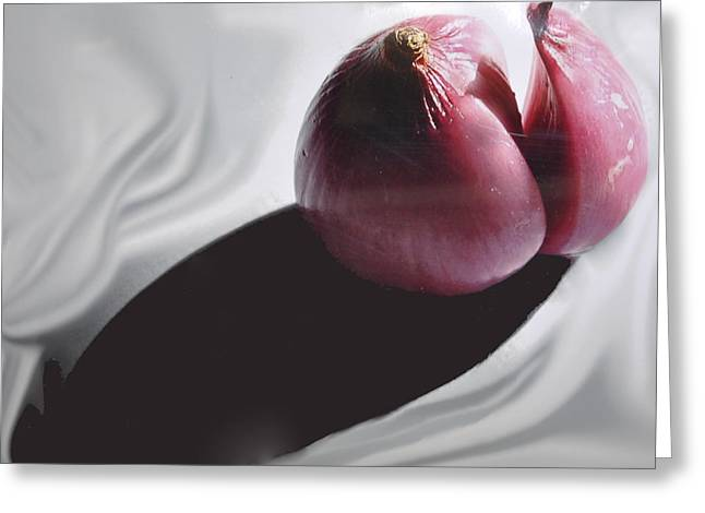 Shallot And Shadow Greeting Card