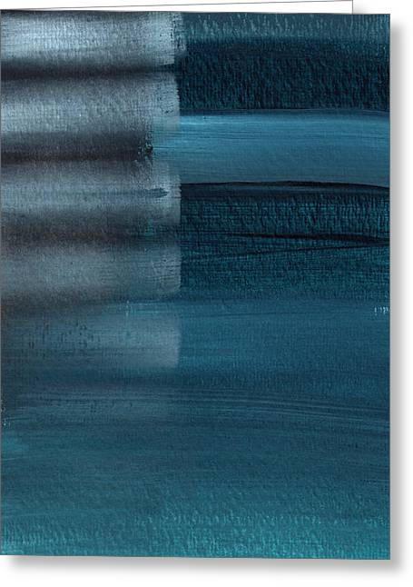 Shallow- Abstract Art By Linda Woods Greeting Card