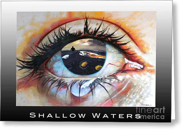 Shallow Waters  Greeting Card by Linda Weinstock