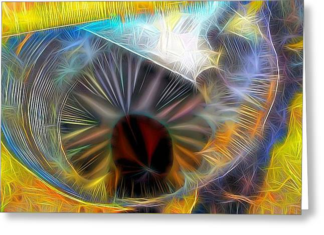 Greeting Card featuring the digital art Shallow Well by Ron Bissett