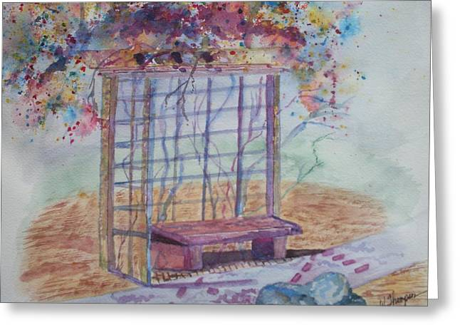 Shalom Rose Arbor Greeting Card by Warren Thompson