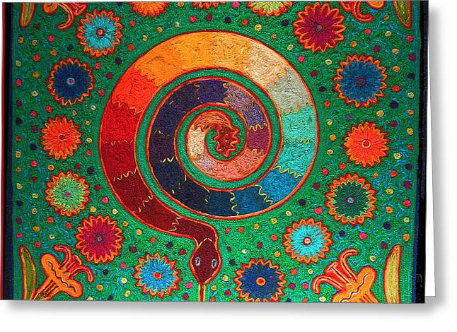 Shaman Serpent Ritual Greeting Card