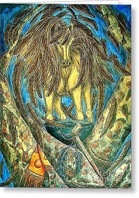 Shaman Spirit Greeting Card by Kim Jones