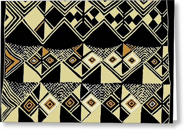 Greeting Card featuring the digital art Shaman Tribal Kuba by Vagabond Folk Art - Virginia Vivier
