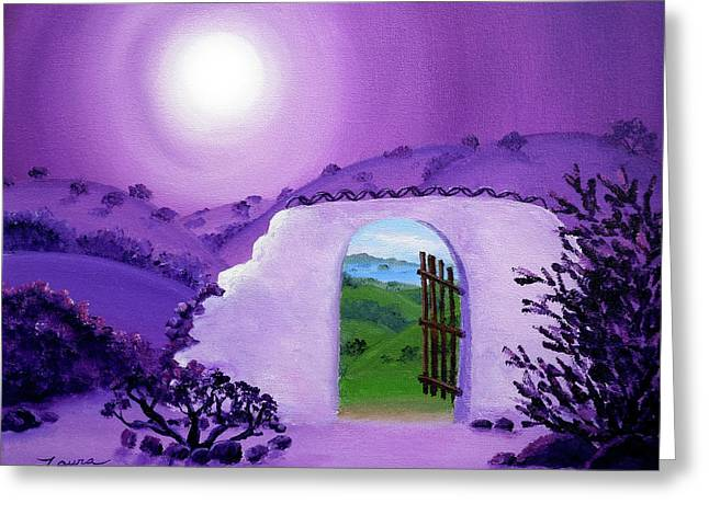 Shaman's Gate To Summer Greeting Card by Laura Iverson
