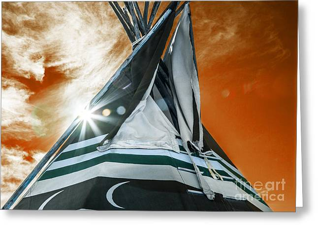 Shamans Tipi Greeting Card