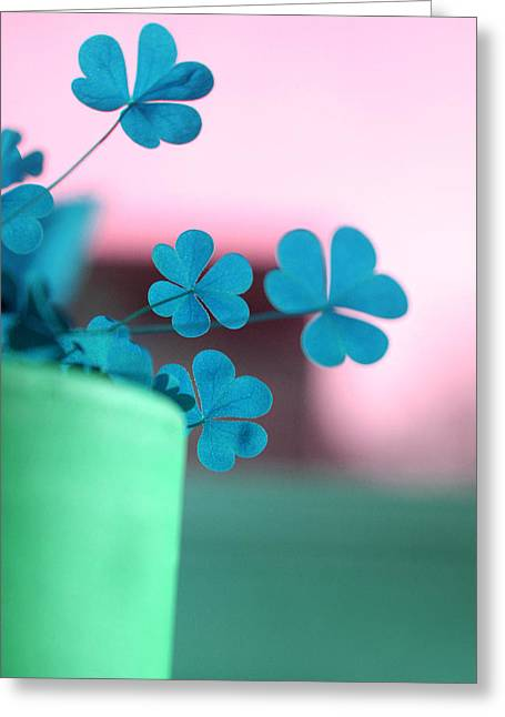 Shamrock Pot V Greeting Card
