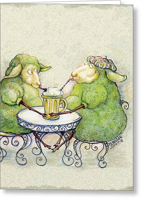Shamrock Shake Greeting Card by Peggy Wilson