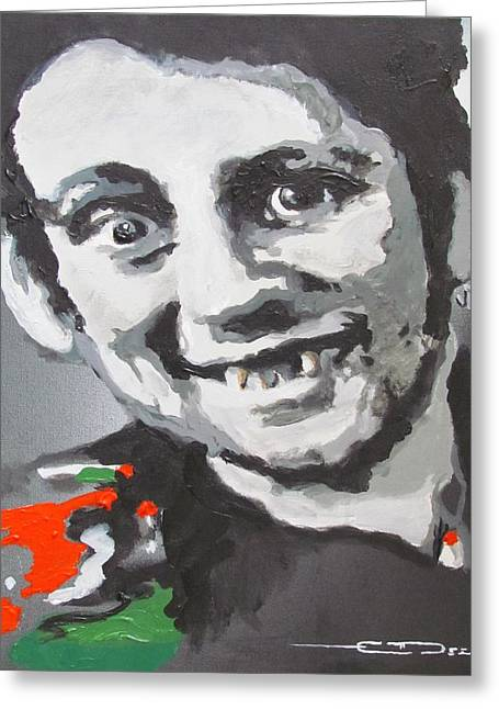 The Clash Greeting Cards - Shane Macgowan Fairytale of New York Greeting Card by Eric Dee