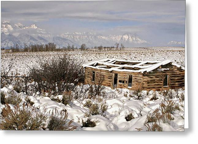 Greeting Card featuring the photograph Shane's Cabin by Ronnie and Frances Howard