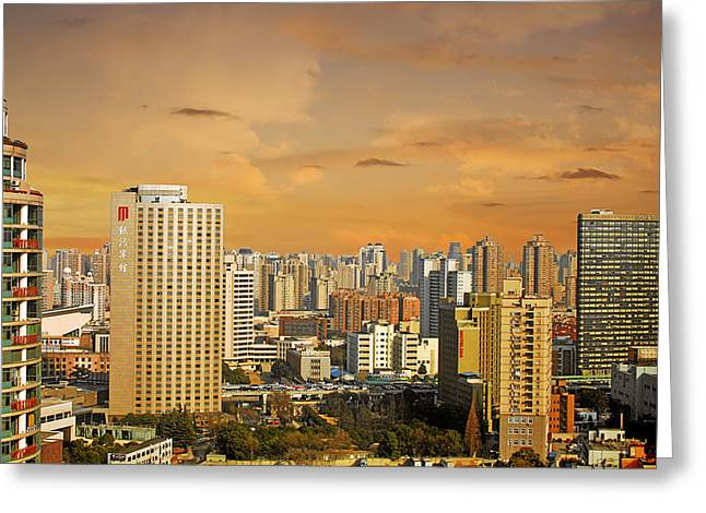 Shanghai - Paris Of The East Greeting Card by Christine Till