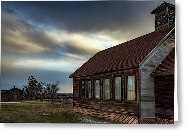 Greeting Card featuring the photograph Shaniko Schoolhouse by Cat Connor