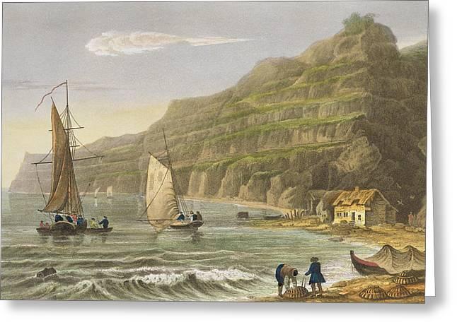 Shanklin Bay Greeting Card by Frederick Calvert