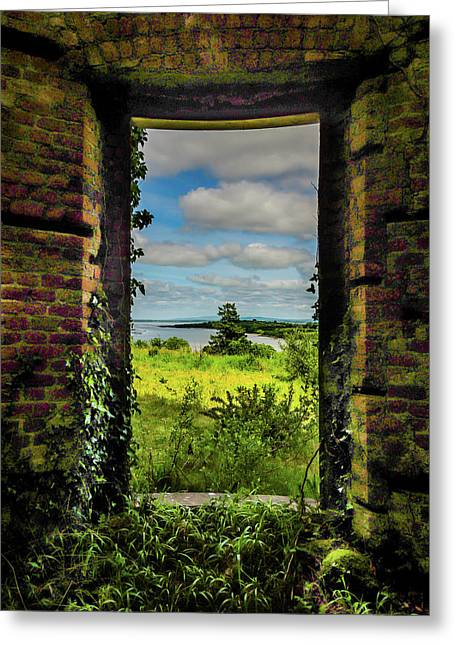 Greeting Card featuring the photograph Shannon Estuary From Abandoned Paradise House by James Truett