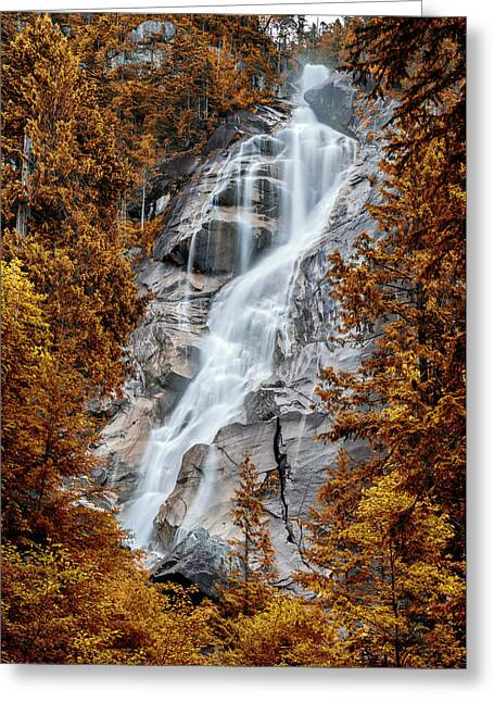 Shannon Falls - Indian Summer Greeting Card by Stephen Stookey