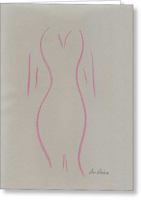 Shape Of A Woman Greeting Card by M Valeriano