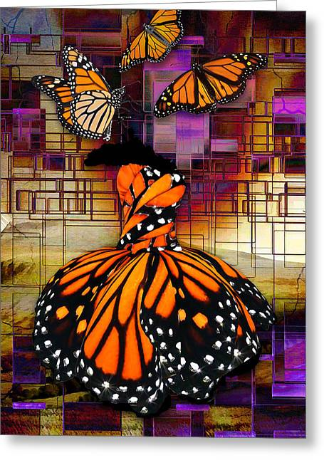 Greeting Card featuring the mixed media Shape Shifting by Marvin Blaine