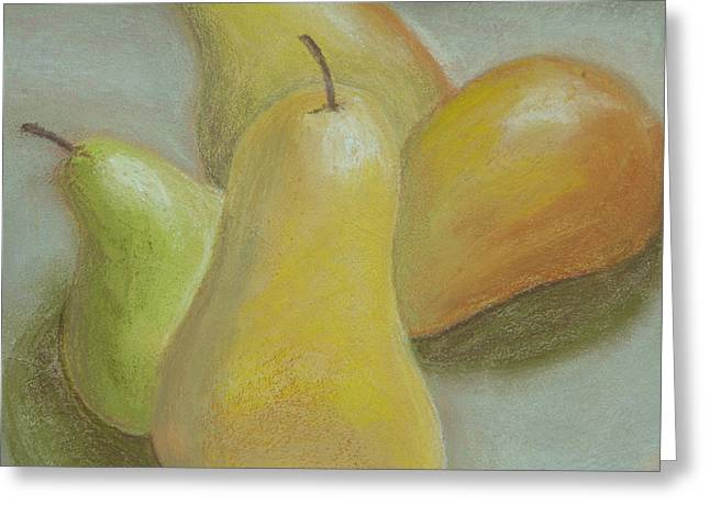 Shapely Pears Greeting Card