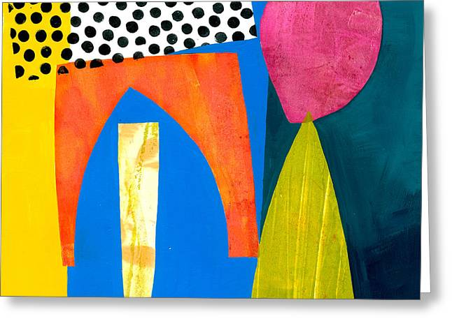 Shapes 2 Greeting Card by Jane Davies