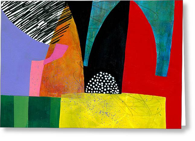 Shapes 5 Greeting Card by Jane Davies