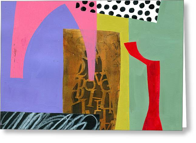 Shapes 6 Greeting Card by Jane Davies
