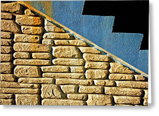 Shapes And Forms Of Station Stairway Greeting Card
