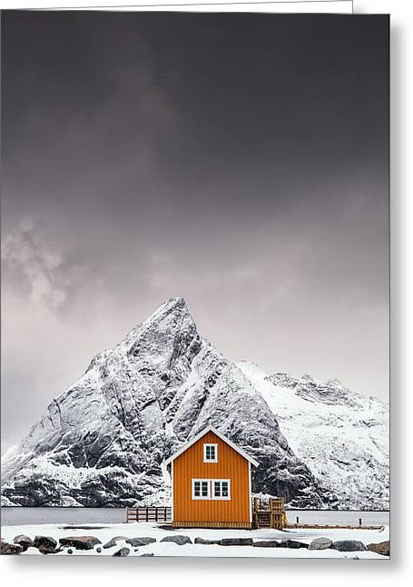 Shapes Of Lofoten Greeting Card
