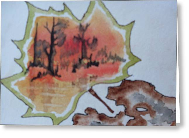 Shapes Of Nature Greeting Card by Warren Thompson