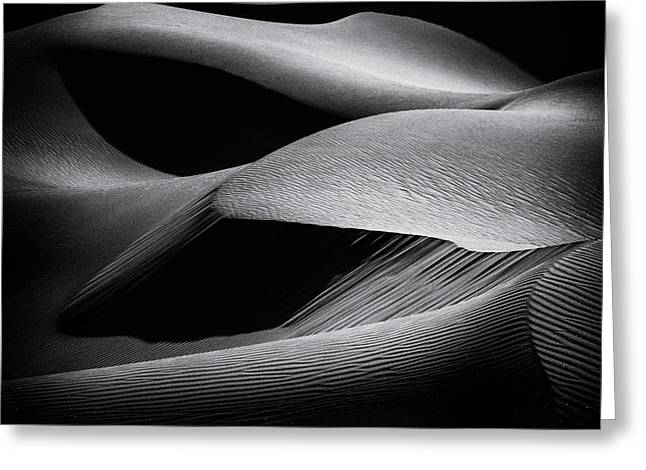 Shapes Of The Dunes Greeting Card by Simon Chenglu