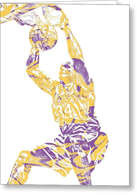 Shaquille Oneal Los Angeles Lakers Pixel Art 9 Greeting Card