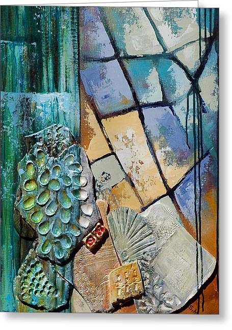 Shards Water Clay And Fire Greeting Card by Suzanne McKee