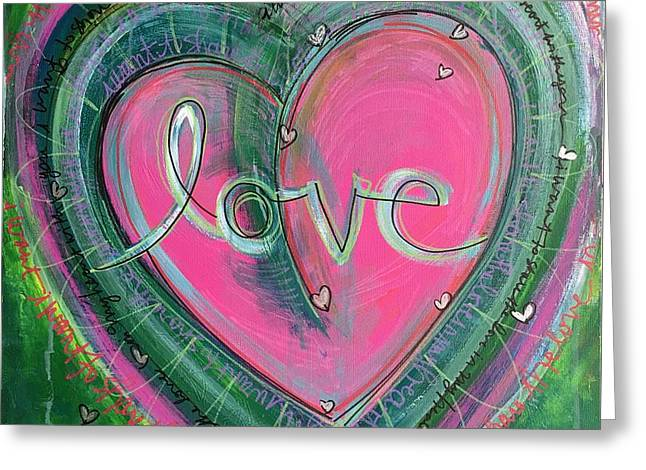 Greeting Card featuring the painting Share My Love Heart by Laurie Maves ART