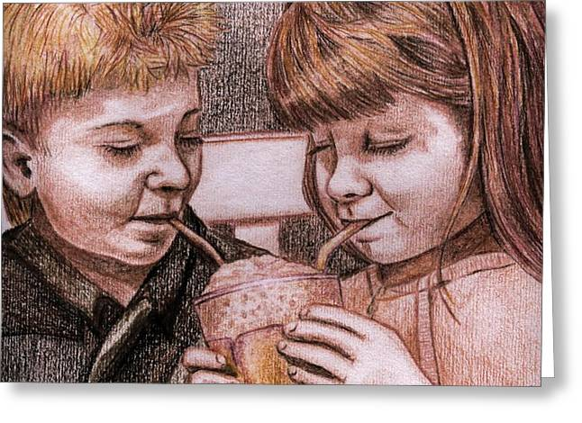 Sharing A Shake Greeting Card by Sherry Holder Hunt