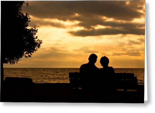Sharing A Sunset Greeting Card by Carl Jackson