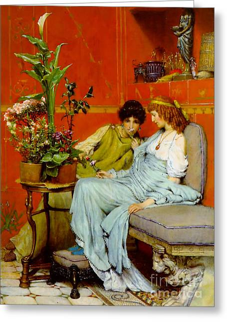 Sharing Secrets 1869 Greeting Card by Padre Art