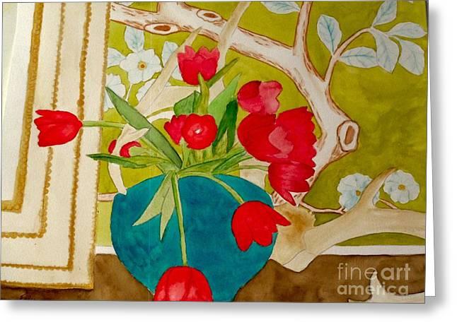 Sharing The Limelight Greeting Card by Eileen Tascioglu