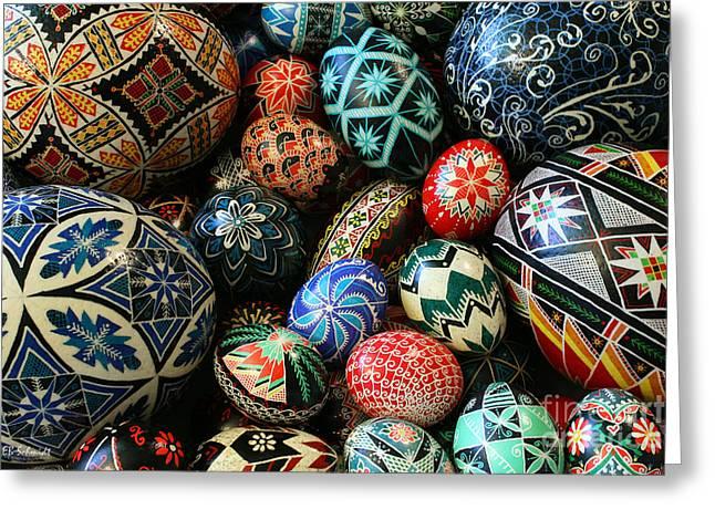 Shari's Ukrainian Eggs Greeting Card