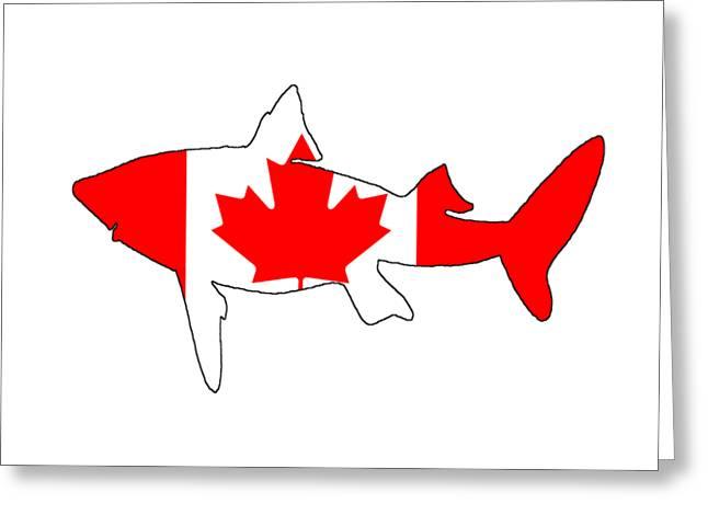 Shark Canada Greeting Card by Mordax Furittus