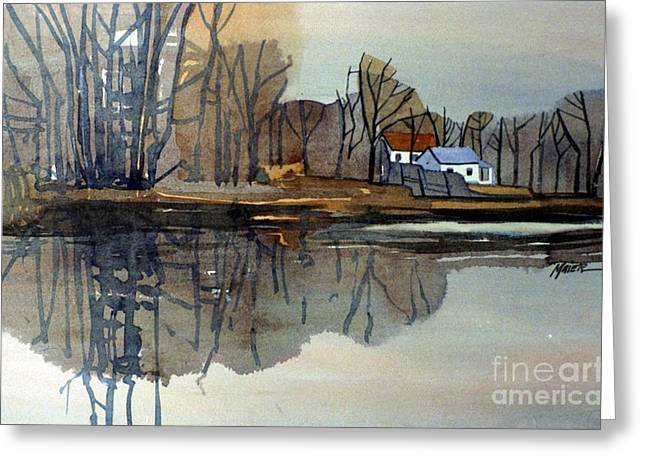 Shark River Reflections Greeting Card by Donald Maier
