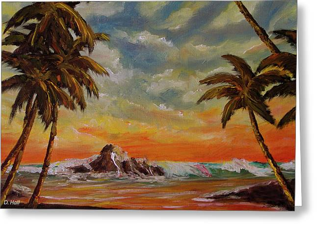 Sharks Cove North Shore Oahu #394 Greeting Card by Donald k Hall
