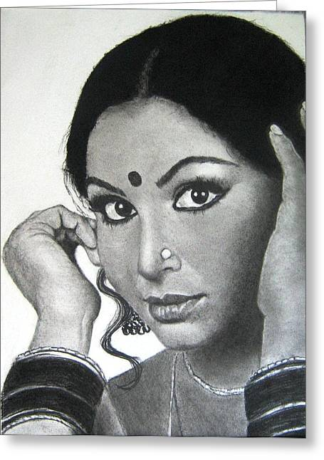 Sharmila Tagore Greeting Card