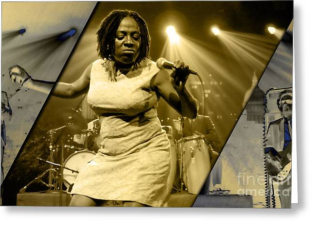 Sharon Jones And The Dap-kings Collection Greeting Card by Marvin Blaine