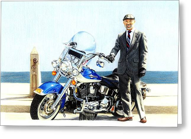 Sharp Dressed Man Greeting Card by Danielle R T Haney