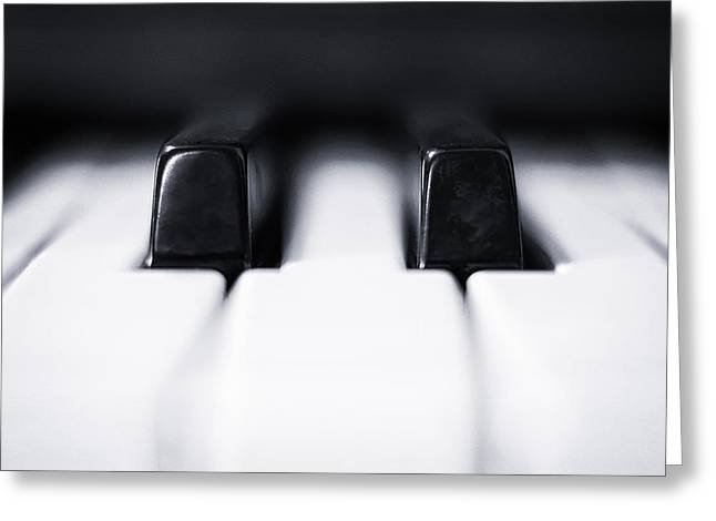 Keyboard Photographs Greeting Cards - Sharp or flat Greeting Card by Scott Norris