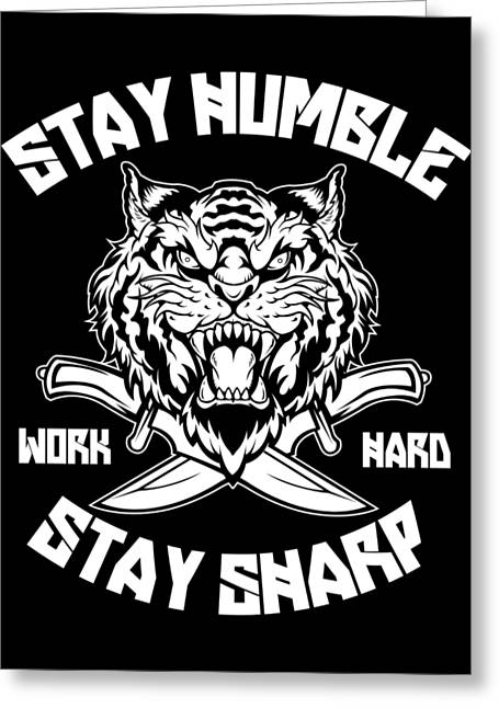 Sharp Tiger Greeting Card