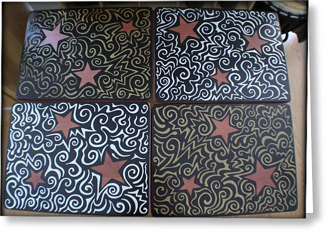 Sharpie Star Tv Table Set Greeting Card